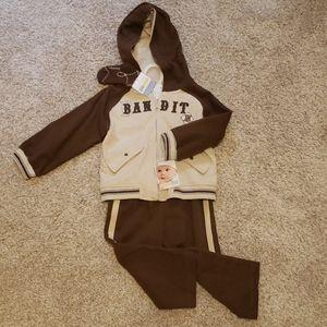 24 month hoodie, socks and jogging pants set